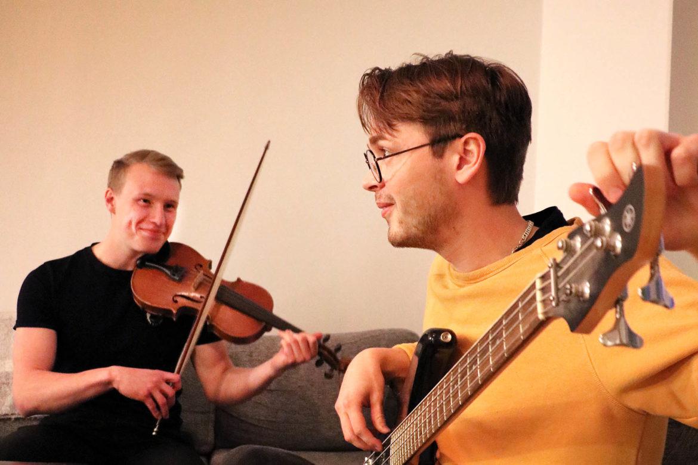 Hemma hos Anders och Filip i Umeå