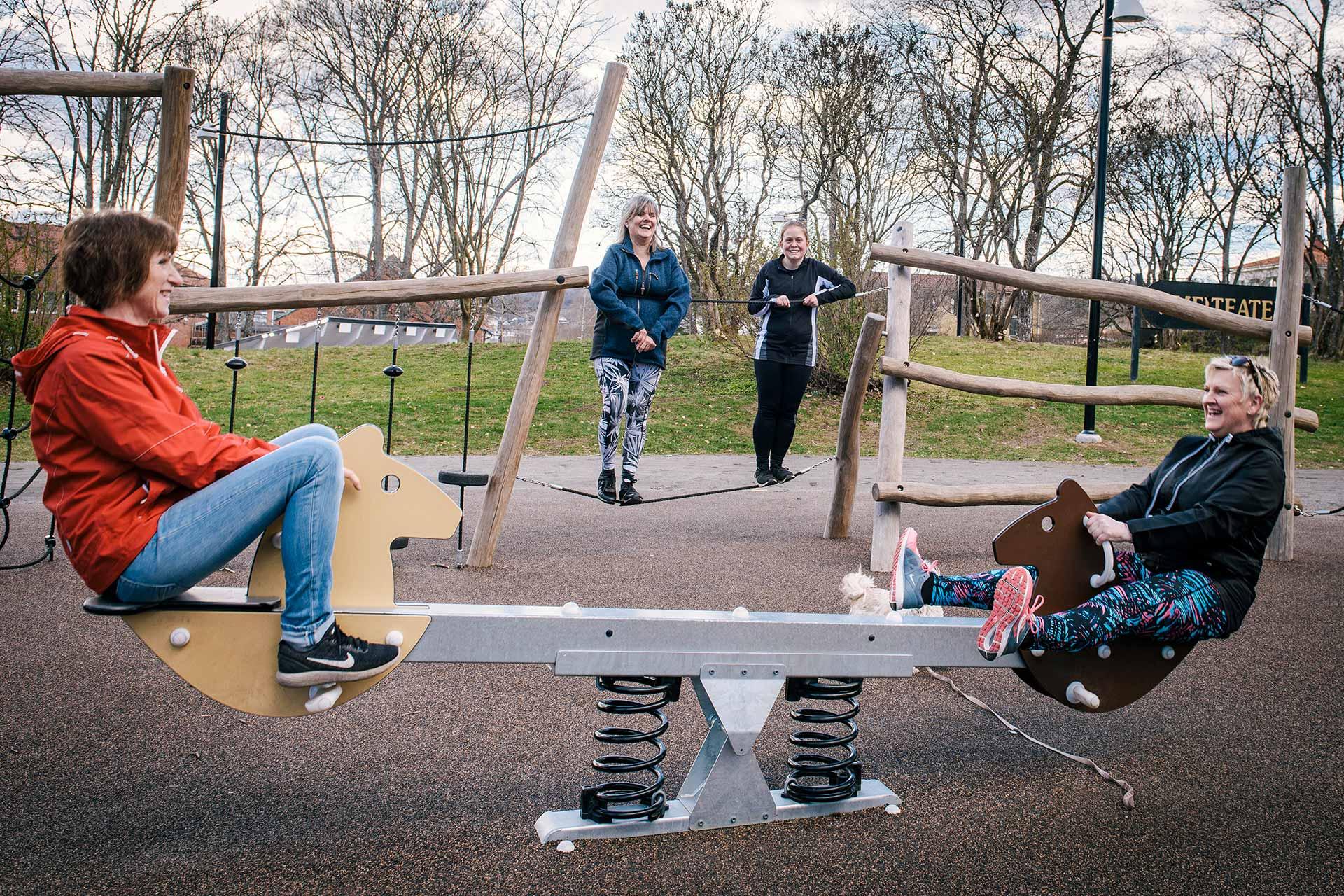 Lekplatsen Plantis ligger varmt om grannarnas lekfulla hjärta. Foto: Johan Pehrson