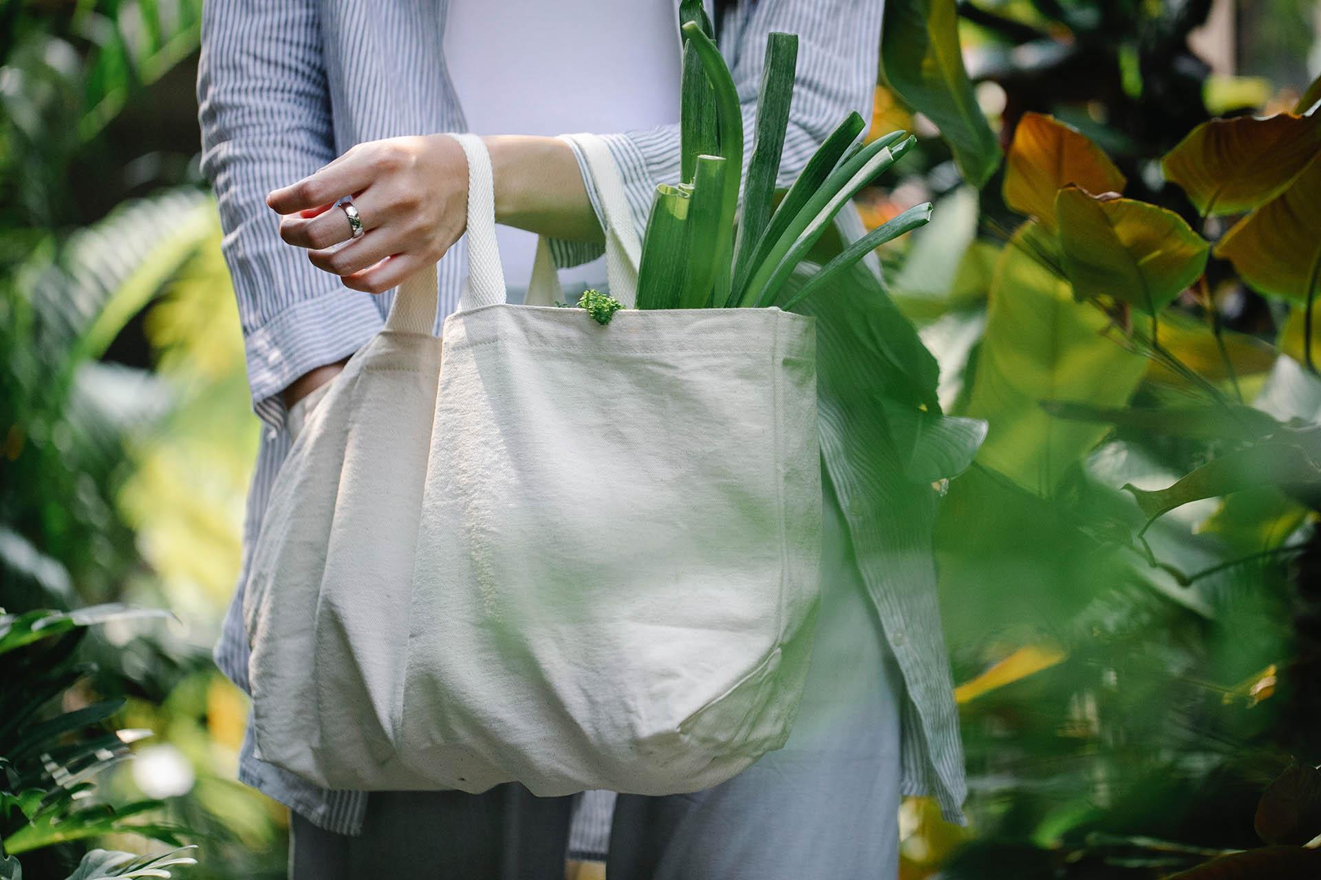 TIPS! Slopa plastpåsen och bär dina matvaror i en praktiskt och slitstark tygpåse som kan användas om och om igen!