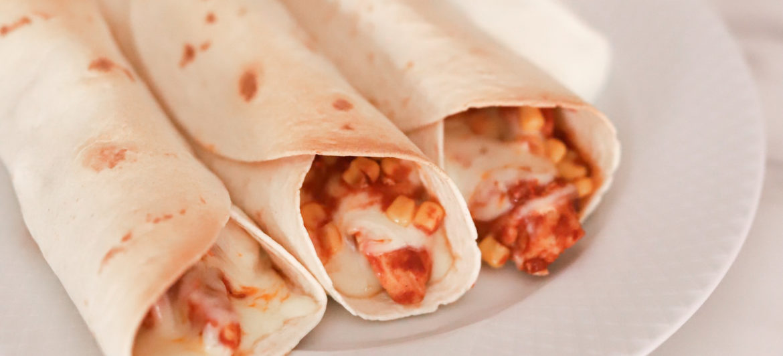Enkel enchiladas med kylling