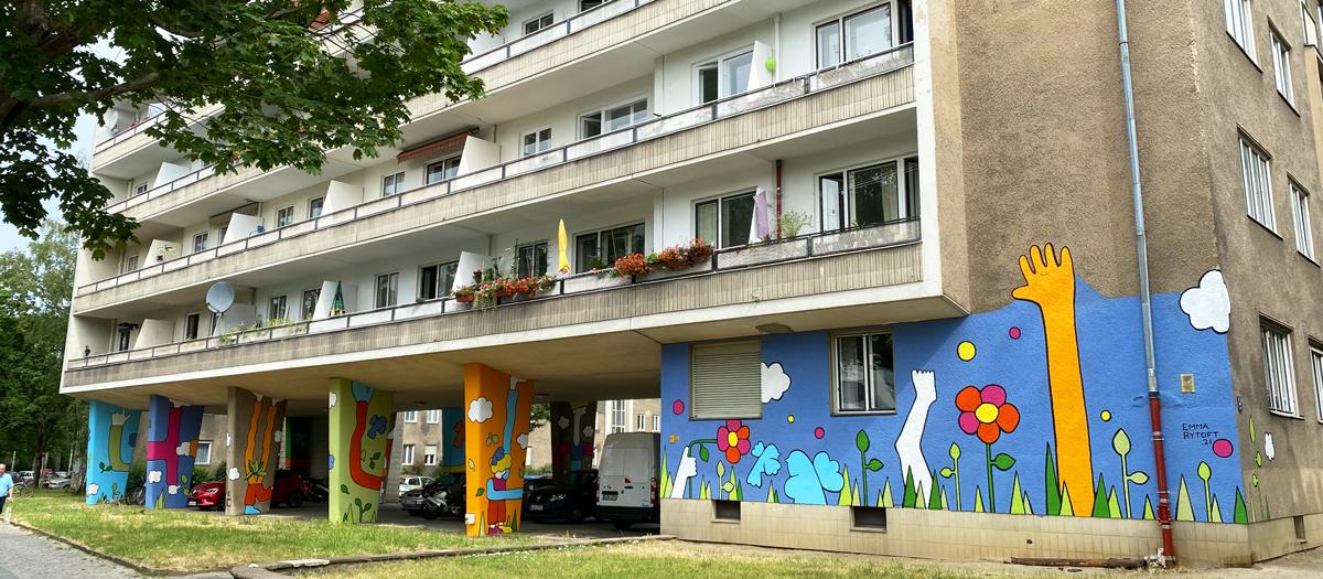 <b>RAUM FÜR ALLE</b><br>Emma Rytoft hat das erste Gebäude von Heimstaden in ein Kunstwerk umgewandelt</br>